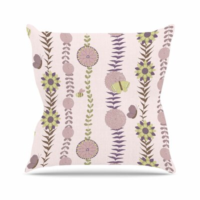 Flower Pattern Blush Throw Pillow Size: 26 H x 26 W x 4 D
