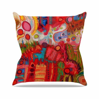 Desert Under a Full Moon Jeff Ferst Throw Pillow Size: 18 H x 18 W x 4 D