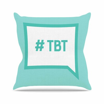 Throw Back Thursday Throw Pillow Size: 26 H x 26 W x 4 D
