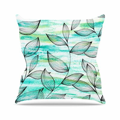 Tropical Leaf Garden Jessica Wilde Throw Pillow Size: 18 H x 18 W x 4 D