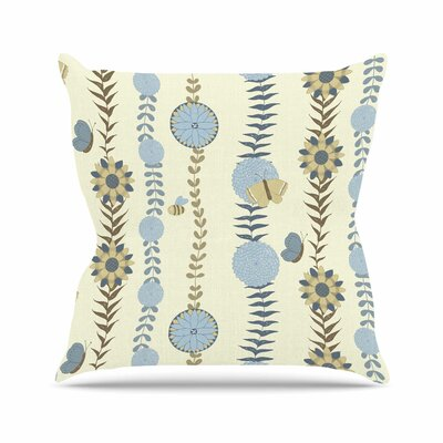 Flower Garden Judith Loske Throw Pillow Size: 16 H x 16 W x 4 D
