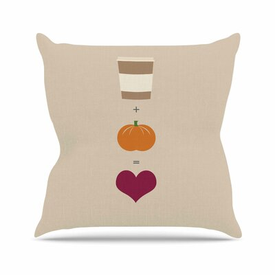 Pumpkin Spice Latte Throw Pillow Size: 20 H x 20 W x 4 D