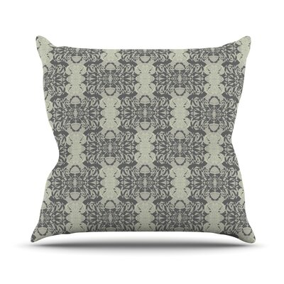 Illusion Damask by Mydeas Throw Pillow Size: 16 x 16, Color: Silver