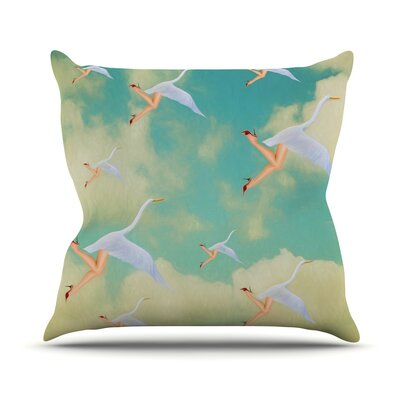 Swan by Natt Throw Pillow Size: 16 H x 16 W x 3 D