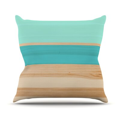 Spring Swatch Throw Pillow Color: Blue / Green