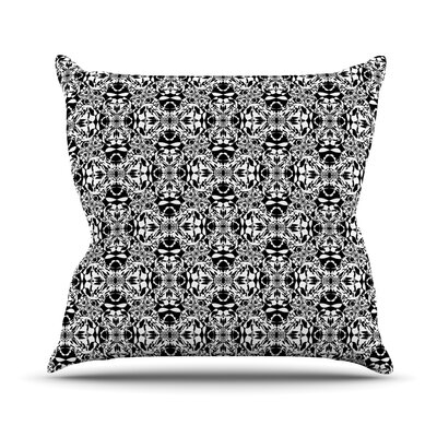 Diamond Illusion Damask by Mydeas Throw Pillow Size: 16 x 16, Color: Black/White