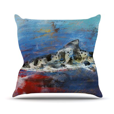 Sea Leopard Josh Serafin Throw Pillow