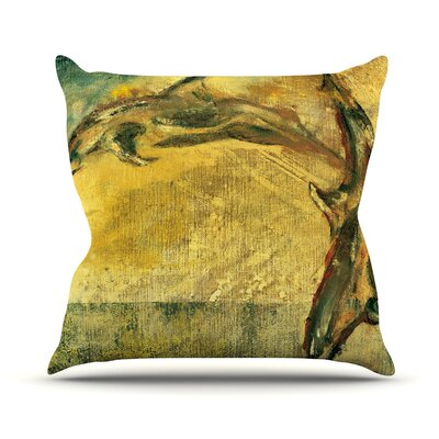 No Reason to Hide by Josh Serafin Throw Pillow Size: 18 H x 18 W