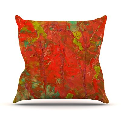 Crimson Forest Throw Pillow