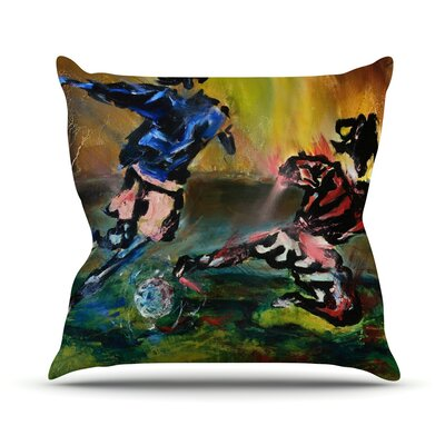 Slide Tackle Josh Serafin Throw Pillow