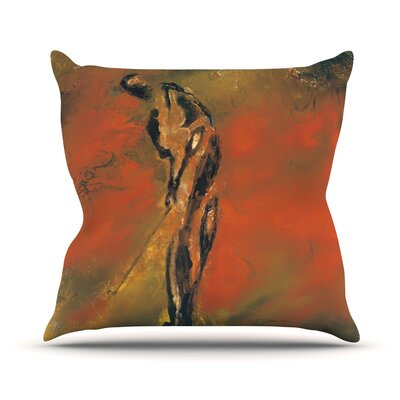 Chip by Josh Serafin Throw Pillow Size: 16 H x 16 W