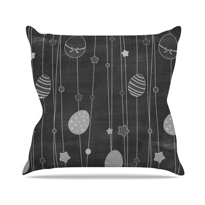 Chalk Eggs Throw Pillow Size: 16 H x 16 W x 4 D