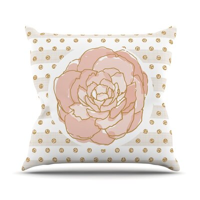 Watercolor Peony Pellerina Design Throw Pillow