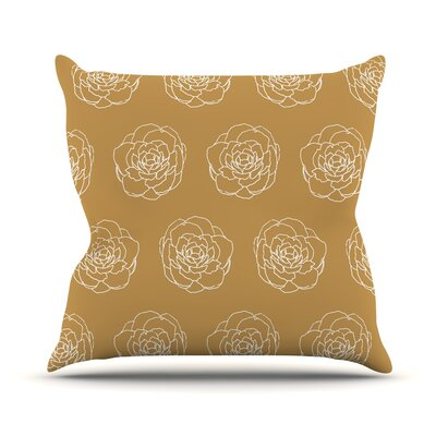 Peonies Pellerina Design Throw Pillow
