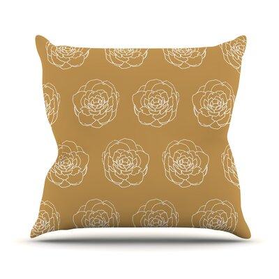 Peonies Pellerina Design Throw Pillow