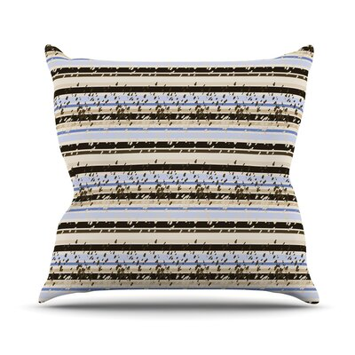 Nautical Breeze Sandy Stripes by Mydeas Throw Pillow Size: 16 x 16