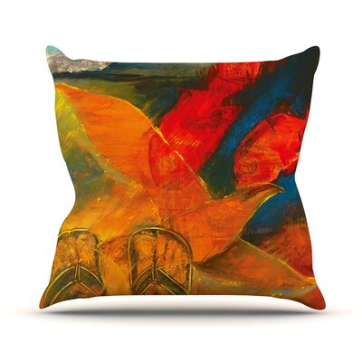 Whats Beneath My Feet by Josh Serafin Throw Pillow Size: 16 H x 16 W