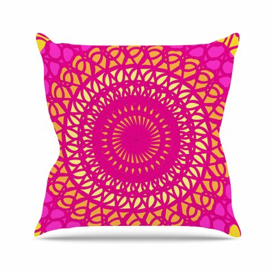 Radiant Pomegranate Pattern Muse Throw Pillow