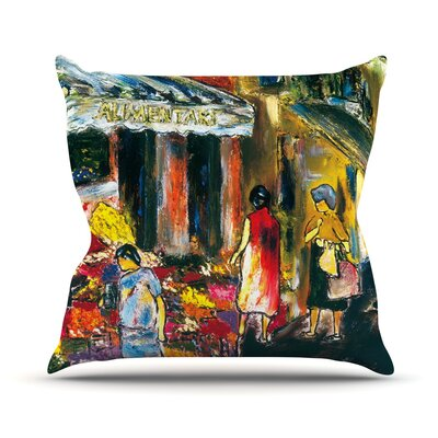 Alimentari Josh Serafin Throw Pillow