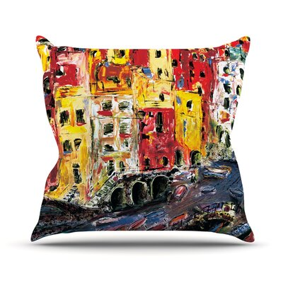 Cinque Terre Josh Serafin Throw Pillow