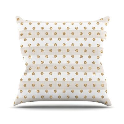 Linen Polka Stripes Pellerina Design Throw Pillow