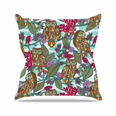 Owls Throw Pillow Size: 16 H x 16 W x 3 D