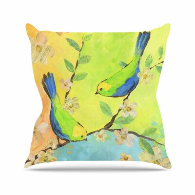 Song Birds Jacqueline Milton Throw Pillow