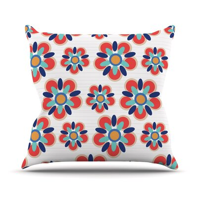 Folksy Jolene Heckman Throw Pillow Color: Red