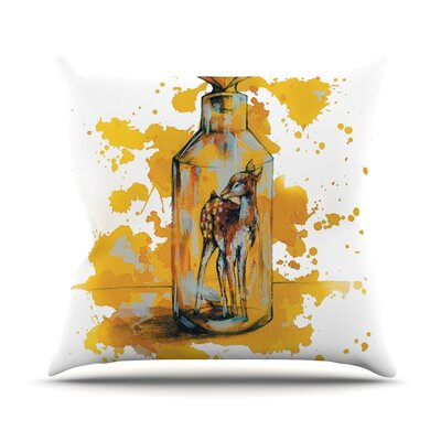 Bottled Deer Kira Crees Throw Pillow