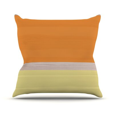 Spring Swatch Throw Pillow Color: Orange / Yellow
