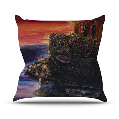 Seaside Village Josh Serafin Throw Pillow