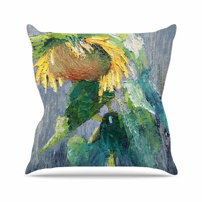 Lonely Sunflower Carol Schiff Throw Pillow Size: 18 H x 18 W x 4 D