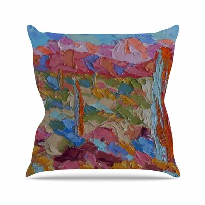 Saguaros in Spring Jeff Ferst Throw Pillow