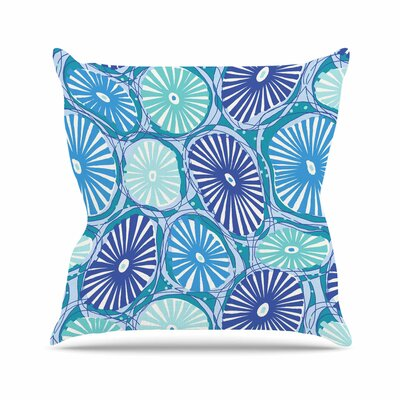 Sea Coral by Jacqueline Milton Throw Pillow Size: 18 H x 18 W