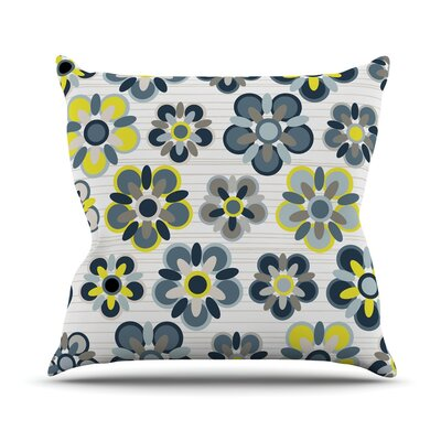 Folksy Jolene Heckman Throw Pillow Color: Blue