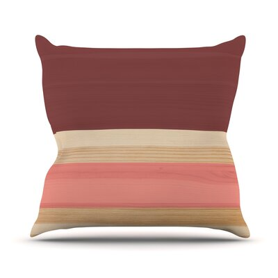 Spring Swatch Throw Pillow Color: Red / Pink