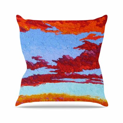 Spring Sunset over Wildflowers Jeff Ferst Throw Pillow