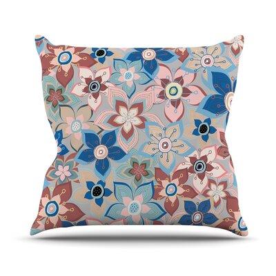 Marsala Floral Mix Jolene Heckman Throw Pillow