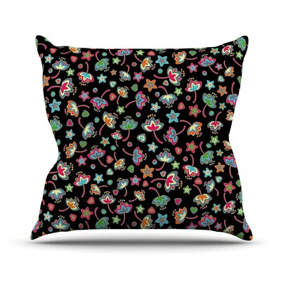 Sweet Flowers Julia Grifol Throw Pillow