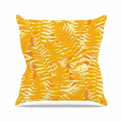 Fun Fern - Citrus Jacqueline Milton Throw Pillow Color: Citrus
