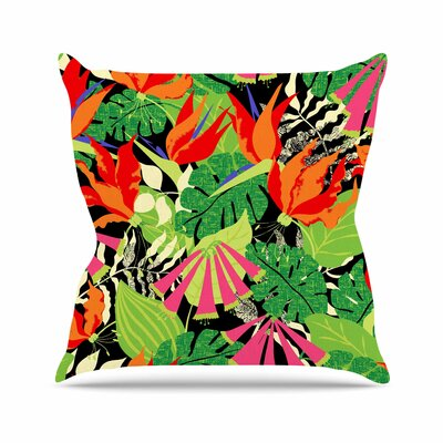 Tropicana Jacqueline Milton Throw Pillow Color: Red