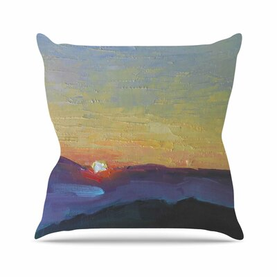 Mountain Sunset Carol Schiff Throw Pillow Size: 20 H x 20 W x 4 D