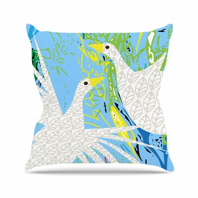 Pond Birds Pattern Muse Throw Pillow