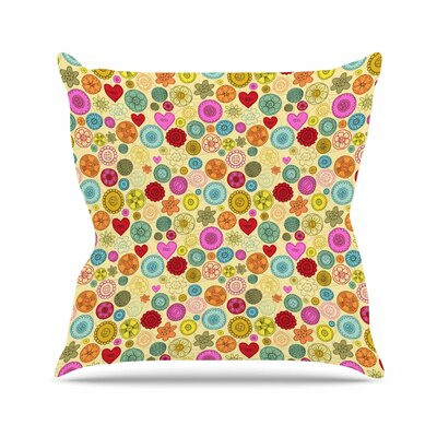 Vintage Buttons Jane Smith Throw Pillow