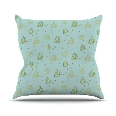 Floating Dandelion Throw Pillow