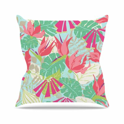 Tropicana Jacqueline Milton Throw Pillow Color: Sky