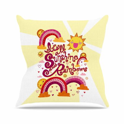 Its All Sunshine & Rainbows Jane Smith Throw Pillow