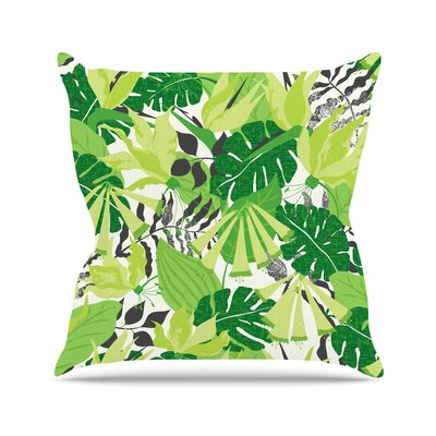 Tropicana Jacqueline Milton Throw Pillow Color: Green