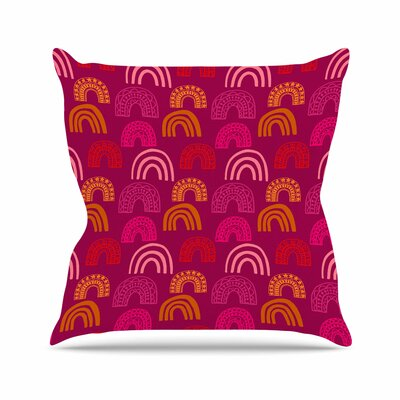 Its All Rainbow Jane Smith Throw Pillow