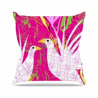Fruit Birds Pattern Muse Throw Pillow